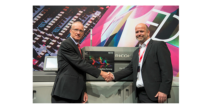 Cicero Digital signs for Ricoh Pro™ C9110 and Ricoh Pro™ C7110 at Drupa 2016