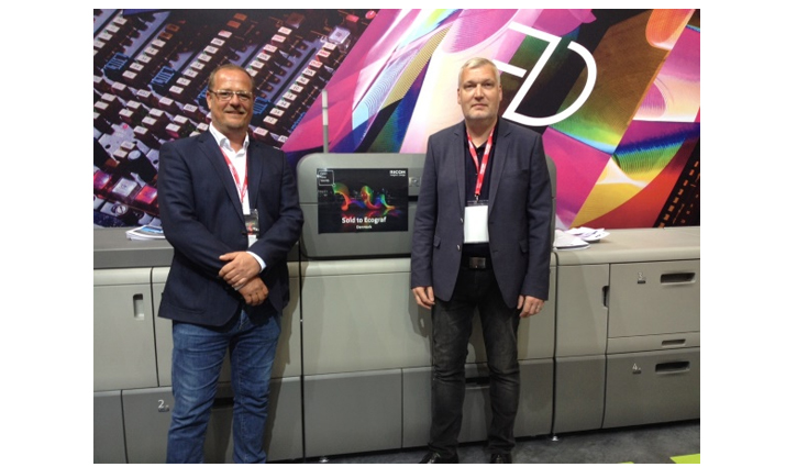 Ecograf invests in its quality service by ordering two Ricoh Pro™ C9110 presses at Drupa 2016